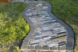 couple builds impressive diy walkway using free scraps of granite