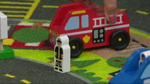 melissa u0026 doug jumbo roadway activity rug with emergency vehicle