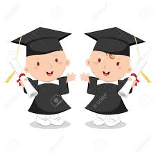 baby graduation cap and gown baby boy and girl wearing graduation gown and cap royalty free