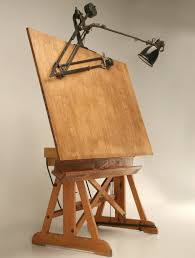 Antique Drafting Table Craigslist Furniture Solid Wood Antique Drafting Table For Architect