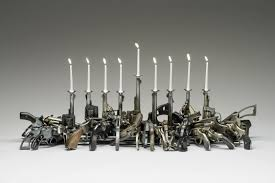 Gun Chandelier by Art Exhibition Explores Themes Of Violence Healing 90 5 Wesa