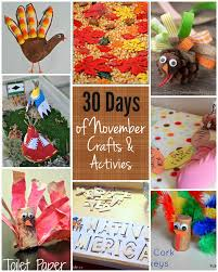 thanksgiving crafts children 30 days of kids activities for november free activity calendar