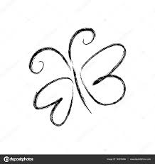 blurred silhouette sketch butterfly insect u2014 stock vector