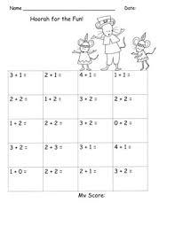 addition to 5 facts drills kindergarten common thanksgiving
