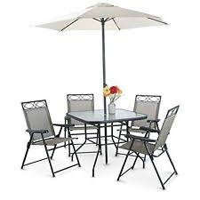 Patio Dining Sets With Umbrella Patio Outdoor Dining Set Garden Yard 6 Pcs Table 4 Chair Umbrella