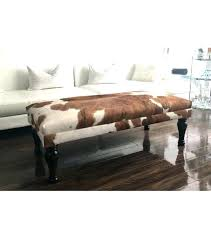 Leather Storage Ottoman Bench Cow Print Storage Ottoman Large Size Of Brown Faux Leather Storage