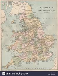 Wales England Map by Great Britain Railways Railway Map Of England U0026 Wales Philip