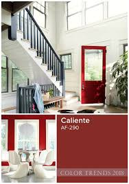 2018 colors of the year benjamin moore color pallets and house