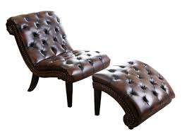 Lounge And Ottoman Darby Home Co Delbert Leather Chaise Lounge And Ottoman Reviews