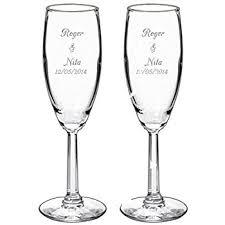 personalized glasses wedding mr and mrs chagne wedding glasses set of 2
