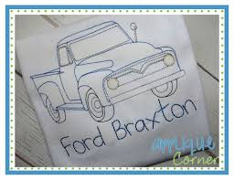 applique corner applique design old truck sketch embroidery design