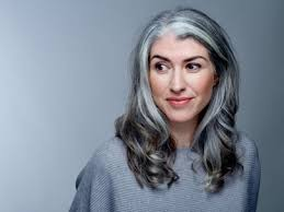 why have i gor grey hair in my 30s woman reveals why she let her hair go grey in her thirties