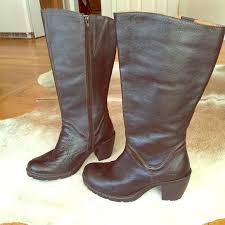 womens boots born 87 born shoes born boc boots black leather s 8 5 from