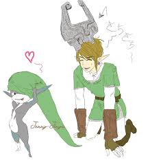 link and midna hat fun sketch by jennyjinya on deviantart