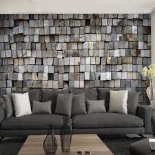 livingroom cafe 3d stereo custom brick wall mural tea shop cafe living room