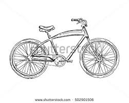 old bicycle sketch illustration stock vector 453604627 shutterstock