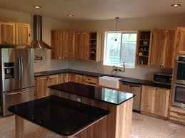 rustic hickory cabinets farm sink all stainless appliances and
