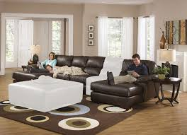 Leather Sectional Sofa Sleeper with Excellent Sectional Sofas With Recliners And Sleeper 51 With