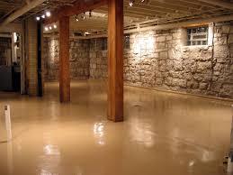 Wood Flooring For Basement by Paint Concrete Basement Floor Ideas Plus Ceiling Beige Instead