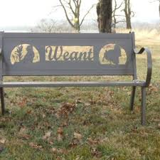 Personalized Park Bench Custom Personalized Steel Bench By Hooper Hill Custom Metal
