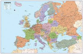 Europe Map by Europe Map Vinyl A0 Size 84 1 X 118 9 Cm Gm Amazon Co Uk
