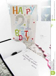 21st birthday card and signature book stock photo image 40715382