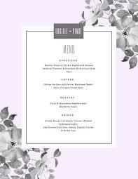 pastel border leaves wedding menu templates by canva
