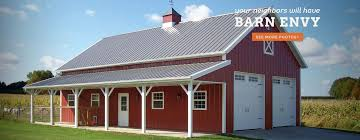 building a gambrel roof pole buildings pole barn builder lester buildings