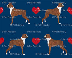 boxer dog umbrella boxers love fabric cute valentines hearts dog fabric best boxer