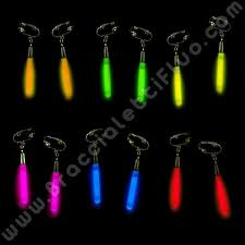 bicchieri fluorescenti orecchini fluo luminosi braccialettifluo