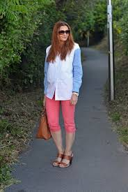 summer style capri easy summer style oversized colour blocked shirt and cropped