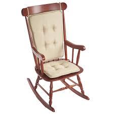 Vine Chair Klear Vu Embrace Natural Tufted Rocking Chair Cushion Set With