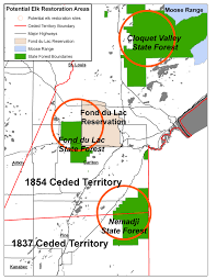 Wisconsin Casinos Map by Minnesota Funds Elk Restoration Study For Fond Du Lac Band Of Lake