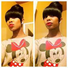 black hairstyles bun with bangs pictures on bang with bun hairstyles cute hairstyles for girls