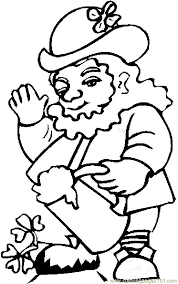 coloring pages leprechaun beer 4 holidays st patrick u0027s