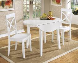white round kitchen table and chairs design homesfeed round white painted wooden and two chairs square rug stylish wallpaper on wall with frames