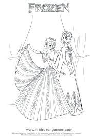 frozen princess coloring pages printable queen elsa build snowman