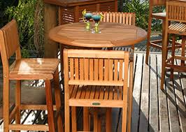 Wooden Patio Table And Chairs Outdoor Wood Bar Height Table Bar Stools Bt441 Inthm 456 00