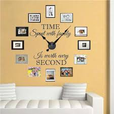 family clock wall decal clock stickers for walls trendy