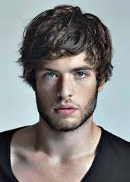best mens hair styles for slim faces long curly hairstyles for men images