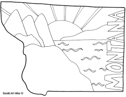 montana coloring page by doodle art alley usa coloring pages