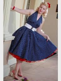 50s blue polka dot dress naf dresses