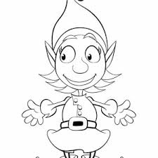 coloring pages of elf two santa christmas elf coloring page color luna
