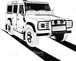 land rover drawing off road stock vector art 165069268 istock