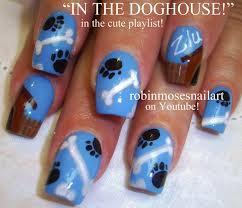 nail art design dog paw nails doggy nail art dog house nail art