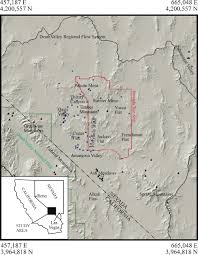 Map Of Death Valley Geochemical Interpretation Of Groundwater Flow In The Southern