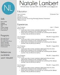 Sample Word Document Resume by Resume Template Word Document Download Modern Monogram