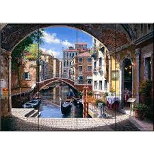 the tile mural store archway to venice 17 in x 12 3 4 in ceramic