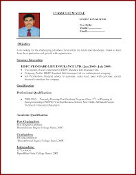 Bio Data Resume Sample by Biodata More Photos