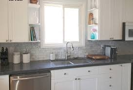interior grey glass backsplashes for kitchens with white wall